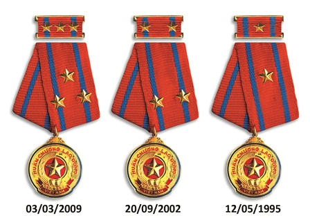 Labor Medal 1st, 2nd and 3rd Class